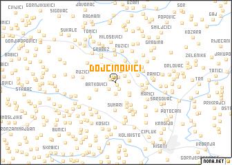 map of Dojčinovići