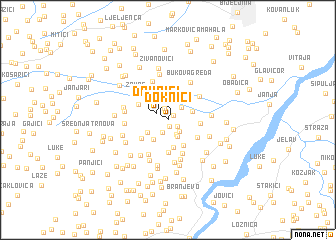 map of Doknići