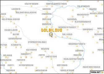 map of Dolbilovo