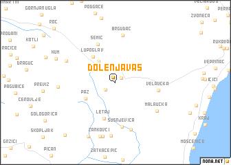 map of Dolenja Vas