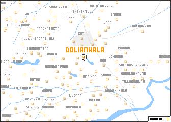 map of Doliānwāla