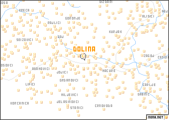 map of Dolina