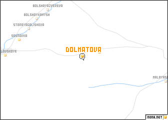 map of Dolmatova