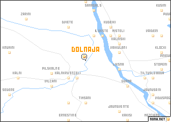 map of Dolnāja
