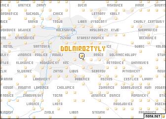 map of Dolní Roztyly