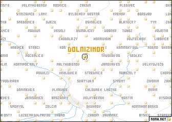 map of Dolní Zimoř