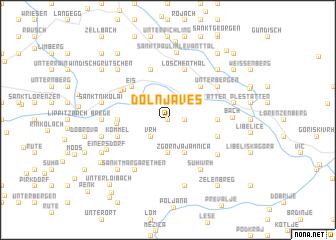map of Dolnja Ves