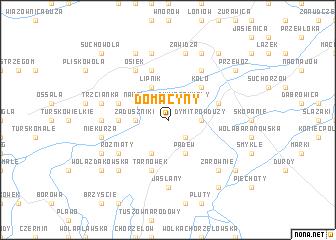 map of Domacyny