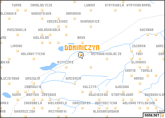 map of Dominiczyn