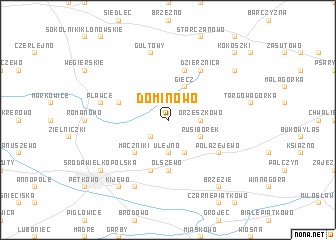 map of Dominowo