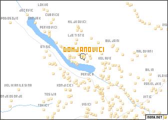 map of Domjanovići