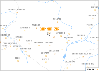 map of Domminizia