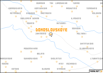 map of Domoslovskoye