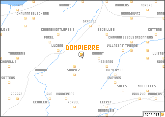 map of Dompierre
