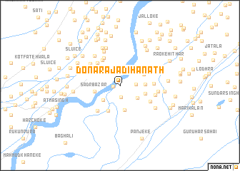 map of Dona Rāja Dīhanāth