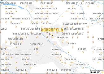map of Donaufeld