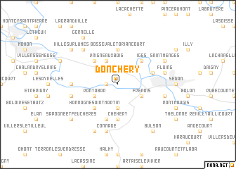 map of Donchery