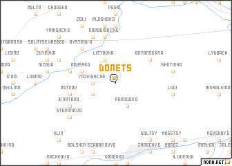 map of Donets