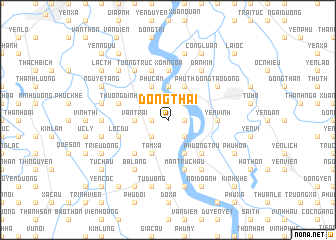 map of Ðông Thai
