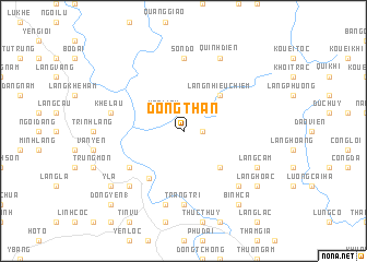 map of Ðông Thàn