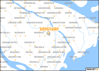 map of Ðồng Xuân