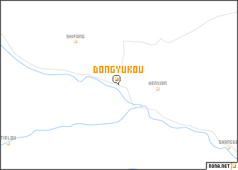 map of Dongyukou