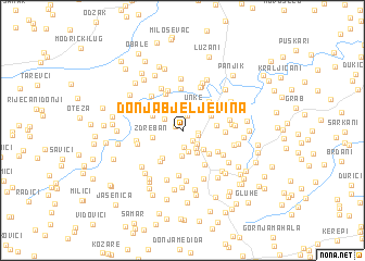map of Donja Bjeljevina