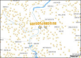 map of Donja Borina