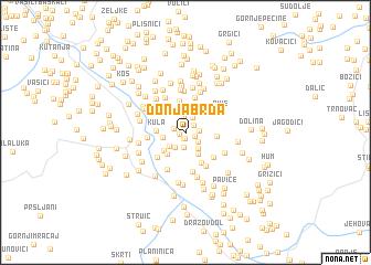 map of Donja Brda