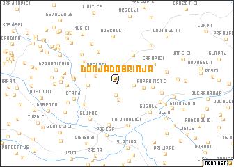 map of Donja Dobrinja