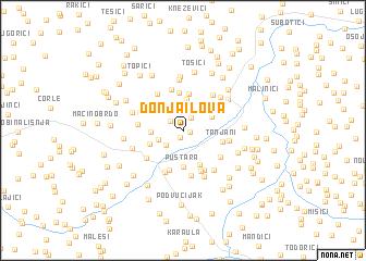 map of Donja Ilova