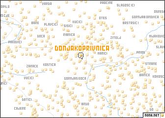map of Donja Koprivnica