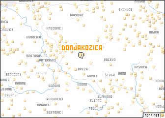 map of Donja Kozica