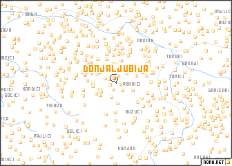 map of Donja Ljubija