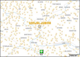 map of Donja Ljubina