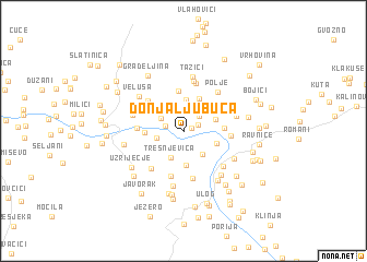 map of Donja Ljubuča