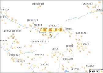 map of Donja Luka