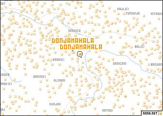 map of Donja Mahala
