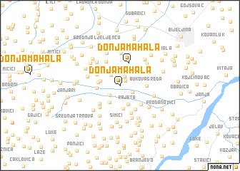 map of Donja Mahala