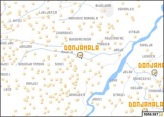 map of Donja Mala