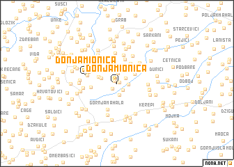 map of Donja Mionica