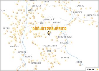 map of Donja Trebješica
