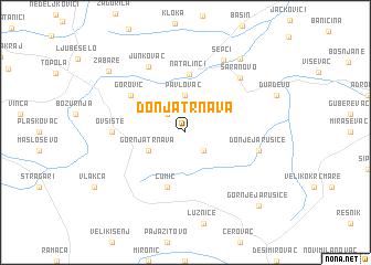 map of Donja Trnava