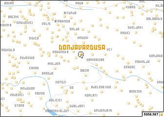 map of Donja Varduša