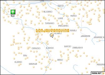 map of Donja Vranovina