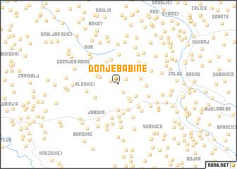 map of Donje Babine