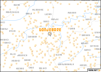 map of Donje Bare