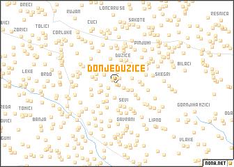 map of Donje Dužice