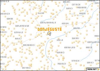 map of Donje Gušte