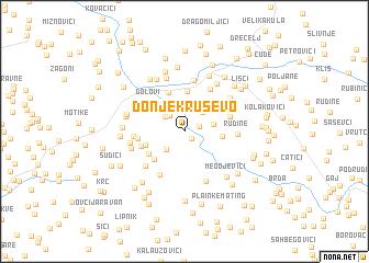 map of Donje Kruševo